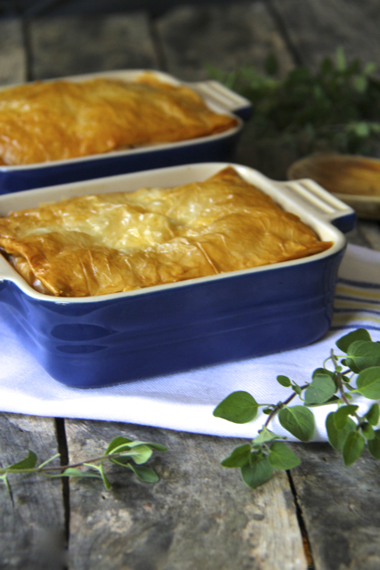 Late Summer Vegetable Phyllo Pie