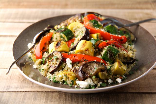 Mediterranean Quinoa and Grilled Vegetable Salad